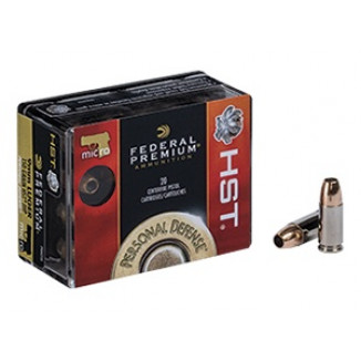 Federal Premium Personal Defense HST Handgun Ammunition 9mm Luger 150 gr HST 900 fps 20/ct