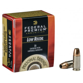 Federal Premuim Personal Defense Hydra•Shok Low Recoil Ammunition 9mm Luger 135 gr JHP 1060 fps 20/box