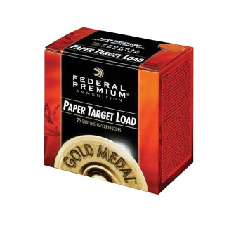 "Federal Gold Medal Paper Shotshells 12 ga. 2-3/4"" 1-1/8 oz 1145 fps #7.5 25/ct"