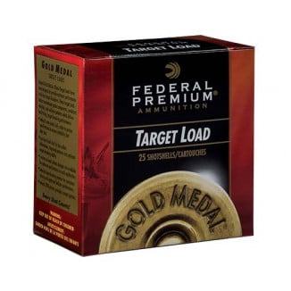 Federal Gold Medal Target Shotshells 12ga  2-3/4 1-1/8oz 1100 fps #8 25/ct