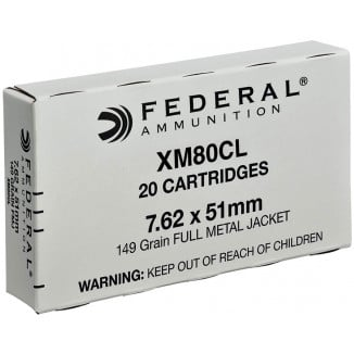 Federal Rifle Ammunition NATO 7.62 X 51mm 149 gr FMJ  20/box