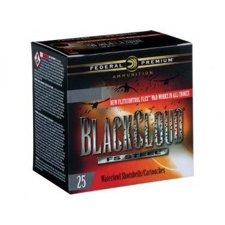"Federal Black Cloud FS Steel Shotshells 12ga.  3"" 1-1/4oz  #2 1450 fps 25/ct"