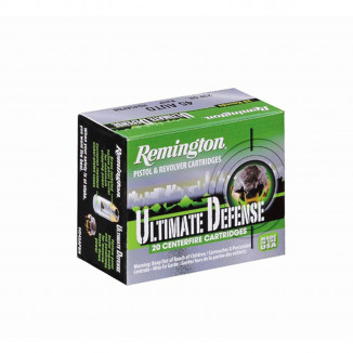 Remington Ultimate Defense Handgun Ammunition .40 S&W 180 gr BJHP  20/box