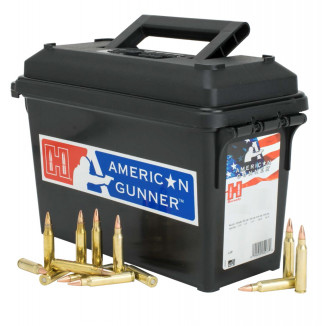 Hornady American Gunner Rifle Ammunition  5.56 NATO 55 gr HP 3240 fps 247/ct