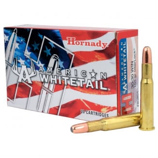 Hornady American Whitetail Rifle Ammunition .30-30 Win 150 gr SP 2390 fps - 20/box