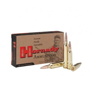 Hornady Custom Rifle Ammunition .250 Savage 100 gr Interlock SP 2800 fps 20/ct