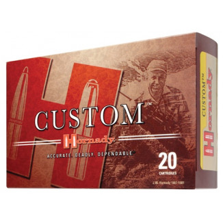 Hornady Custom Rifle Ammunition 8x57mm JS 196 gr BTHP Match 2500 fps 20/ct
