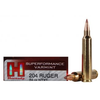 Hornady Varmint Express Rifle Ammunition .204 Ruger 24 gr NTX 4400 fps - 20/box