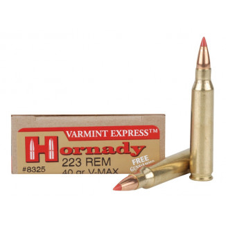 Hornady Varmint Express Rifle  Ammunition .223 Rem 40 gr V-MAX 3800 fps - 20/box