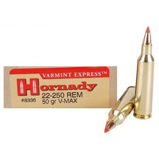 Hornady Varmint Express Rifle  Ammunition .22-250 Rem 50 gr V-MAX 3800 fps - 20/box