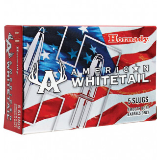 Hornady American Whitetail Shotshell Ammunition 12 ga 1600 fps 1 oz Rifled Slug 5/box