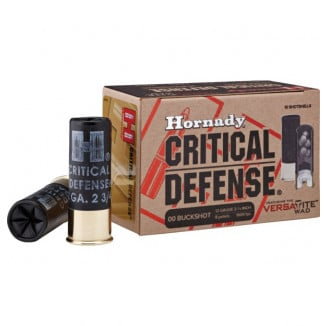 "Hornady Critical Defense Shotgun Ammunition -  12 ga - 2 3/4"" -  8 plts - #00 - 1600 fps - 10/box"