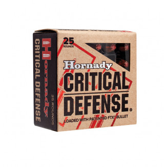 Hornady Critical Defense Handgun Ammo .357 Mag 125 gr FTX 1500 fps 25/box