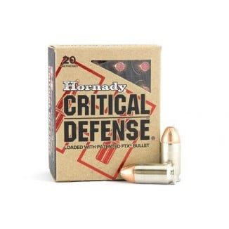 Hornady Critical Defense Handgun Ammo .45 Colt 185 gr FTX 920 fps 20/box