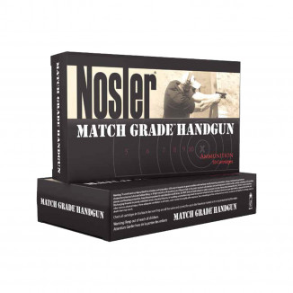 Nosler Match Grade Handgun Ammo 9mm Luger 124 gr JHP 20/box