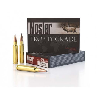 Nosler Trophy Grade Long Range Ammunition  33 Nosler 265 gr  ABLR 2775 fps 20/ct