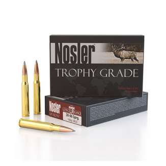Nosler Trophy Grade Long Range Ammunition .30-06 Sprg 168 ABLR 2800 fps 20/ct