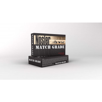 Nosler Match Grade Rifle Ammunition 28 NOS 168 gr HPBT 3075 fps 20/ct