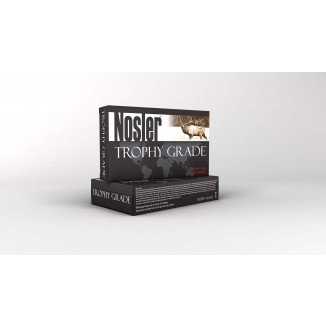 Nosler Trophy Grade Rifle Ammunition .338 Lapua Mag 225 gr AB 3000 fps - 20/box