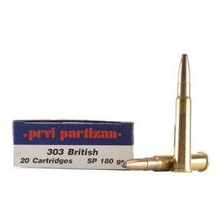 PPU Rifle Ammunition .303 British 180 gr SPBT 20/Box