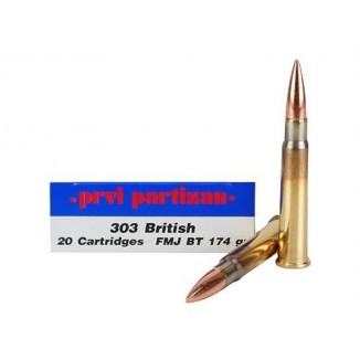 PPU Rifle Ammunition .303 British 174 gr FMJ 20/Box