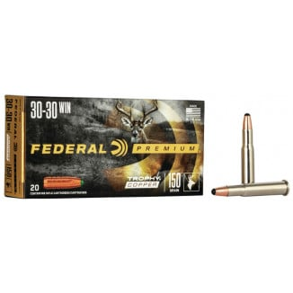 Federal Premium Trophy Copper Rifle Ammunition .30-30 Win 150 gr TC 2300 fps 20/ct