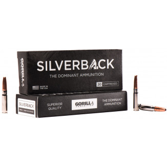 Gorilla Silverback Rifle Ammunition .300 AAC Blackout 205 gr SCHP 1040 fps 20/ct
