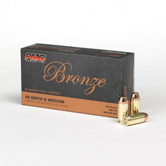 PMC Bronze Handgun Ammunition .40 S&W 165 gr FMJ 989 fps 50/box