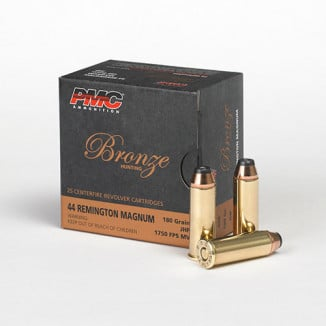 PMC Bronze Handgun Ammunition .44 Mag 180 gr JHP 1400 fps 25/box