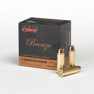 PMC Bronze Handgun Ammunition .44 Mag 240 gr TCSP 1497 fps 25box