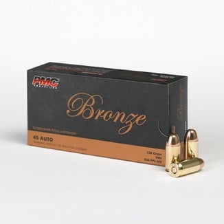 PMC Bronze .45 ACP Handgun Ammunition 230 gr FMJ 830 fps 50/box