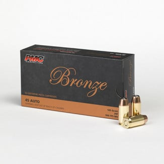 PMC Bronze Handgun Ammunition .45 ACP 185 gr JHP 900 fps 50/box