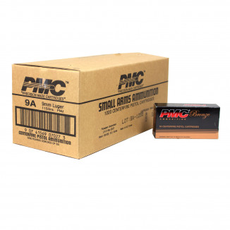 PMC Bronze Handgun Ammunition 9mm Luger 115 gr FMJ 1160 fps 1000/ct