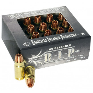 G2 Research R.I.P. Handgun Ammunition .357 SIG 92 gr 1460 fps 20/ct