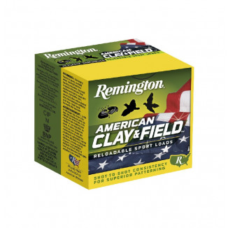 Remington American Clay and Field Shotshells 12 ga 2-3/4 1-1/8oz 1200 fps #8 25/ct