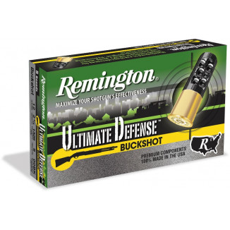 Remington Ultimate Defense Shotshells 12ga 2-3/4 in #00 5/ct