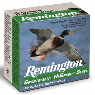 "Remington Sportsman Hi-Speed Steel Shotshells 20ga 3"" 1oz 1300 fps #4 25/ct"