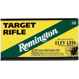 Remington Eley Target Rifle .22 LR 40 gr LRN Rimfire Ammo- 50/box