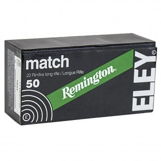 Remington Eley Match .22 LR 40 gr LRN Rimfire Ammo- 50/box