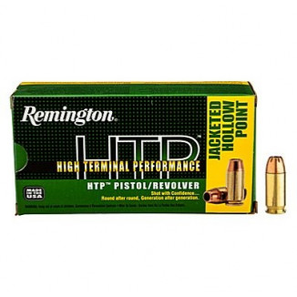 Remington HTP Handgun Ammunition .38 Spl (+P)  125 gr SJHP  50/box