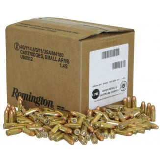 Remington 9mm Luger 115 gr MC  1000/box UMC Handgun Ammunition (Bulk)