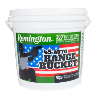 "Remington UMC ""Range Bucket"" Ammunition .45 ACP 230 gr FMJ 835 fps 200/ct"