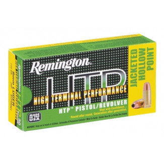 Remington HTP Handgun Ammunition 9mm Luger  115 gr JHP  50/box
