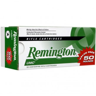 Remington UMC Rifle Ammunition Value Pack .223 Rem 45gr JHP 3550 fps 50/ct