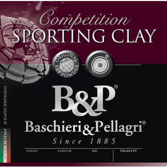 B&P Competition Sporting Clay Shotshells HV- 12 ga 2-3/4 In 1oz #8 1330 fps 25/ct
