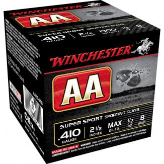 "Winchester AA Super Sport .410 ga 2 1/2"" MAX 1/2 oz #8 1300 fps - 25/box"