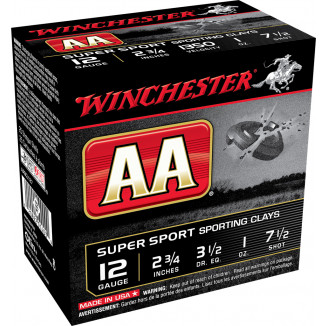 "Winchester AA Super Sport 12 ga 2 3/4"" 1 oz #7.5 1300 fps 25/ct"
