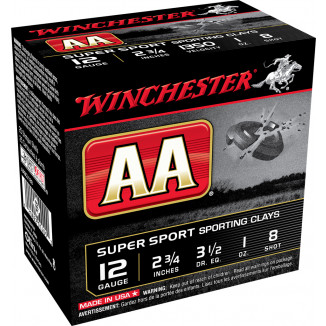 "Winchester AA Super Sport 12 ga 2 3/4"" 1oz #8 1300 fps 25/ct"