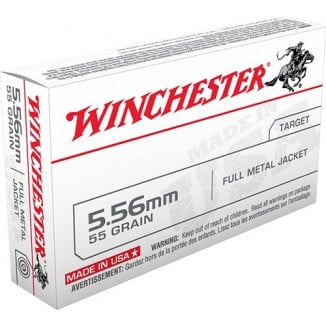 Winchester USA Rifle Ammunition 5.56x45mm 55 gr FMJ  - 20/box