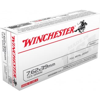 Winchester USA Rifle Ammunition 7.62x39mm 123 gr FMJ  - 20/box
